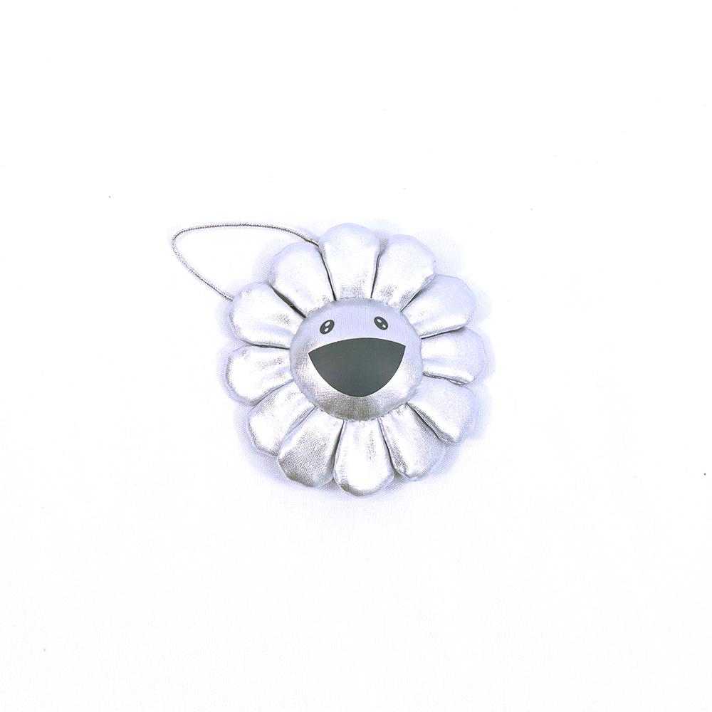 Flower-Key-Chain-Silver