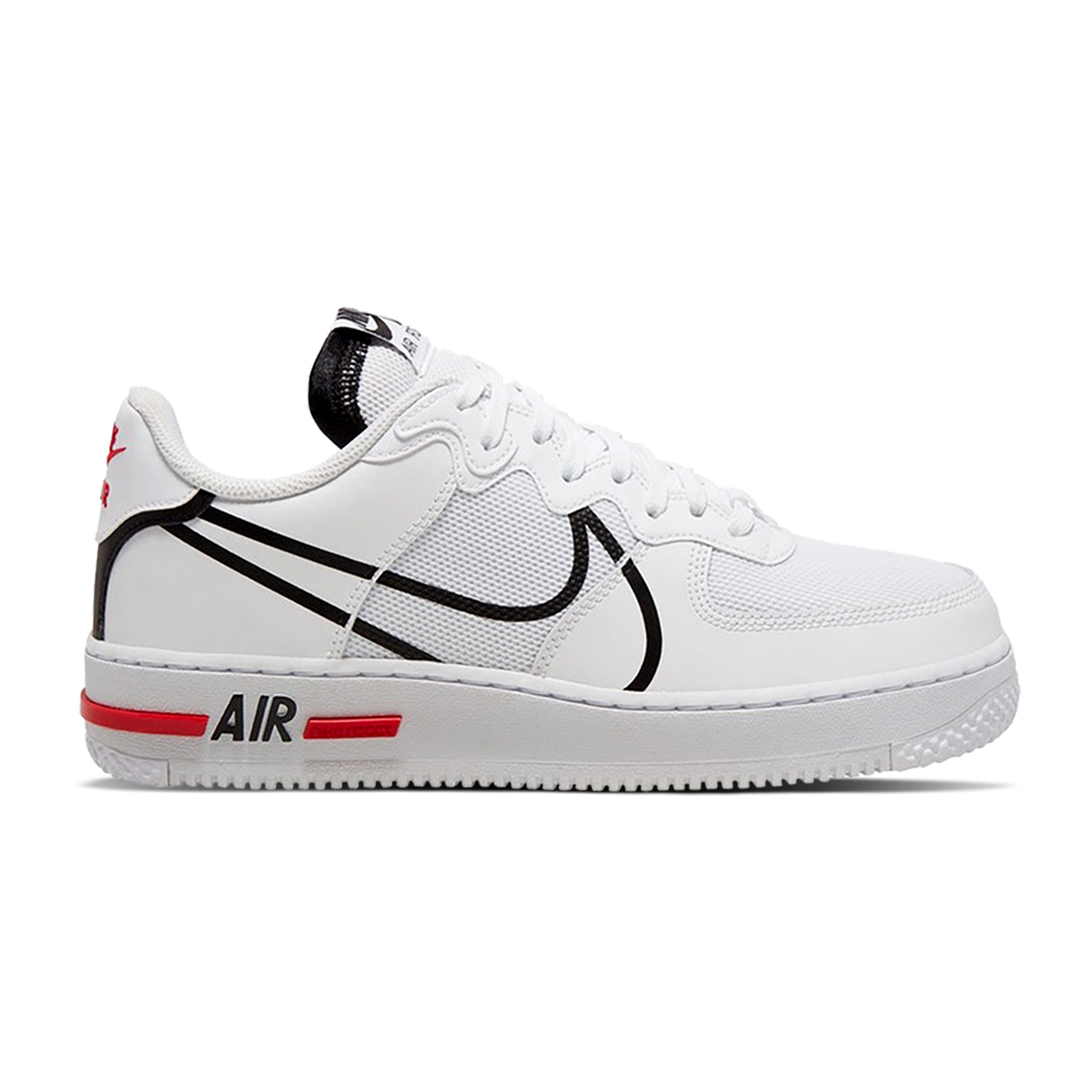 Air-Force-1-React-White-Black-Red