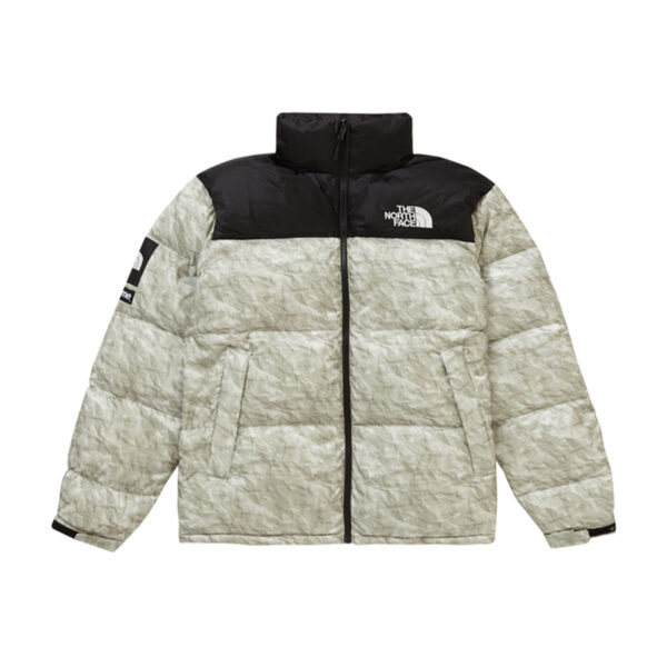 Supreme The North Face Paper Print Nuptse Jacket Paper Print 19FW
