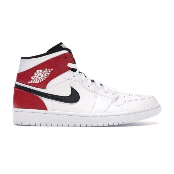 Jordan 1 Mid White Black Gym Red