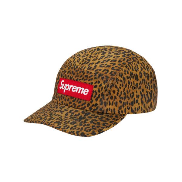 Supreme Barbour Waxed Cotton Camp Cap Leopard 20SS