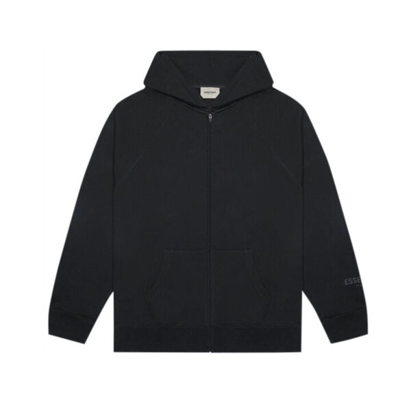 FEAR OF GOD ESSENTIALS Full Zip Up Hoodie Dark Slate/Stretch Limo/Black 20SS