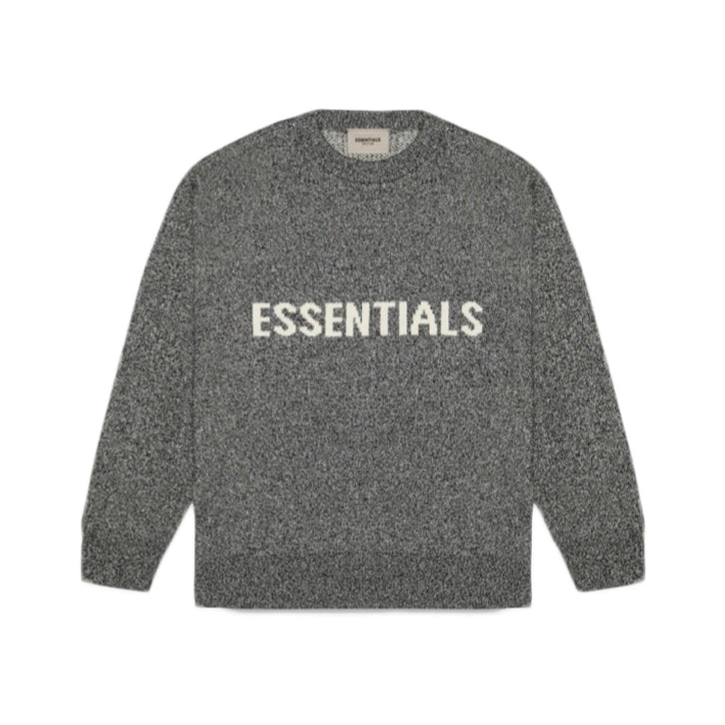 FEAR OF GOD ESSENTIALS Knit Sweater Grey Melange 20SS