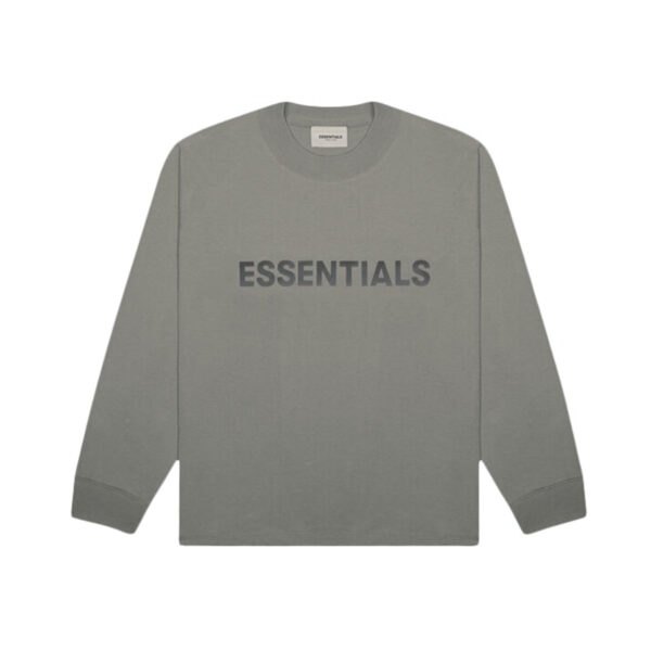 FEAR OF GOD ESSENTIALS Long Sleeve T-Shirt Gray Flannel/Charcoal 20SS