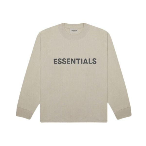 FEAR OF GOD ESSENTIALS Long Sleeve T-Shirt String/Tan 20SS