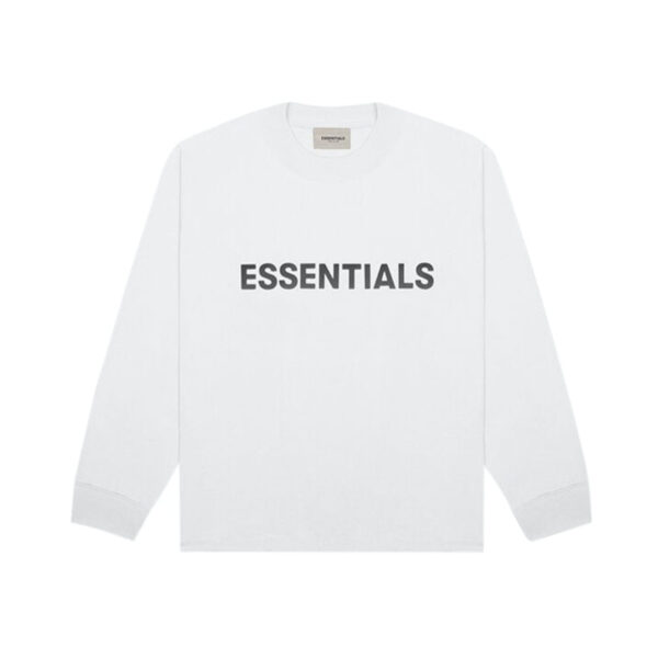 FEAR OF GOD ESSENTIALS Long Sleeve T-Shirt White 20SS