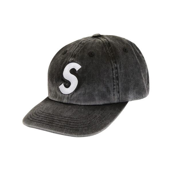 Supreme Pigment Print S Logo 6-Panel Black 20SS