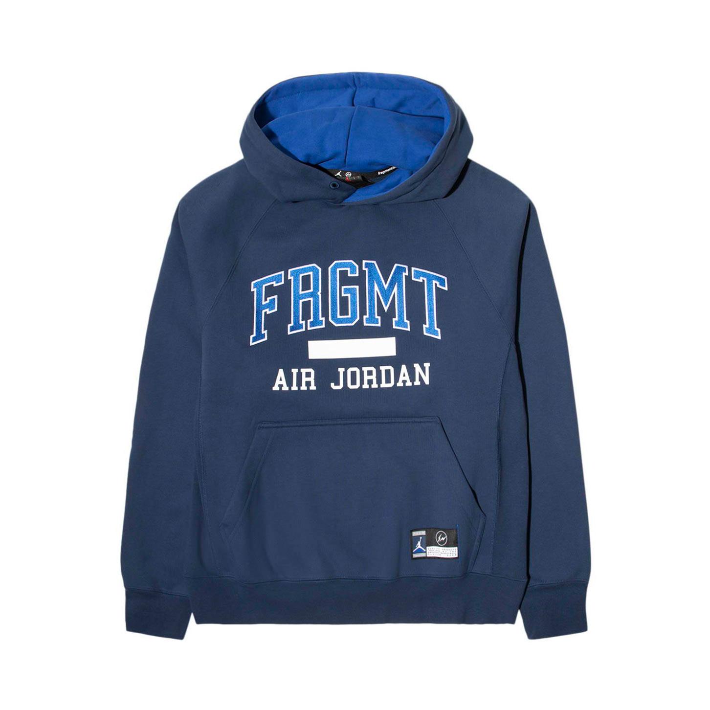 Jordan X Fragment Navy Fleece Pullover Hoodie