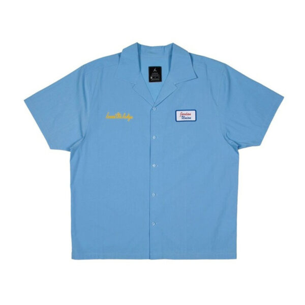 Jordan x Union Mechanic Shirt Psychic Blue
