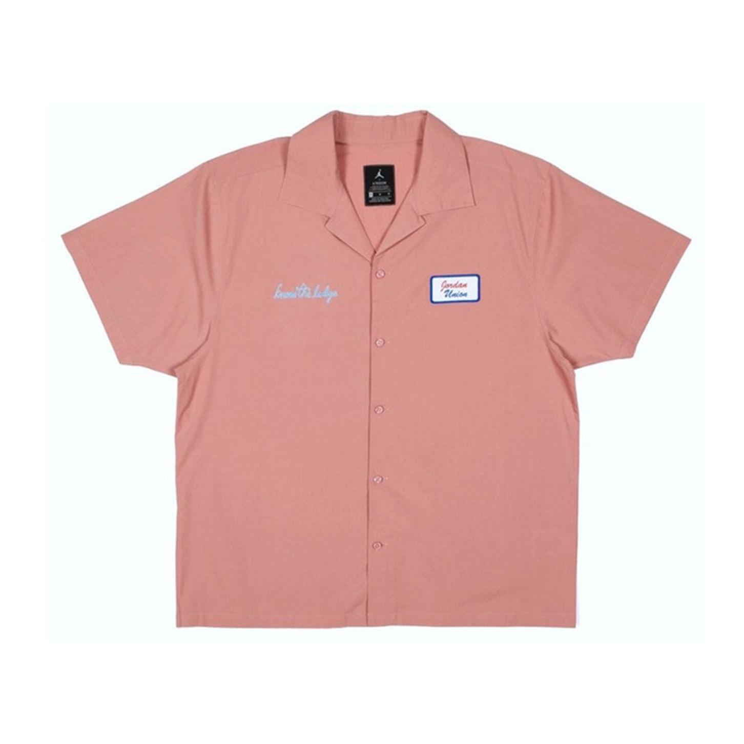 Jordan x Union Mechanic Shirt Rust Pink