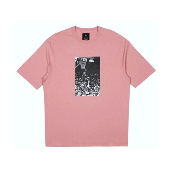 Jordan x Union Reverse Dunk T-Shirt Rust Pink
