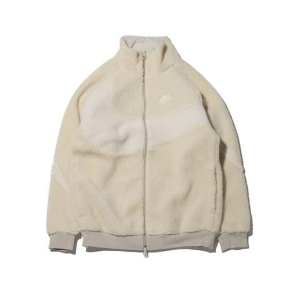 Nike VM Big Swoosh Full Zip Jacket White Ivory