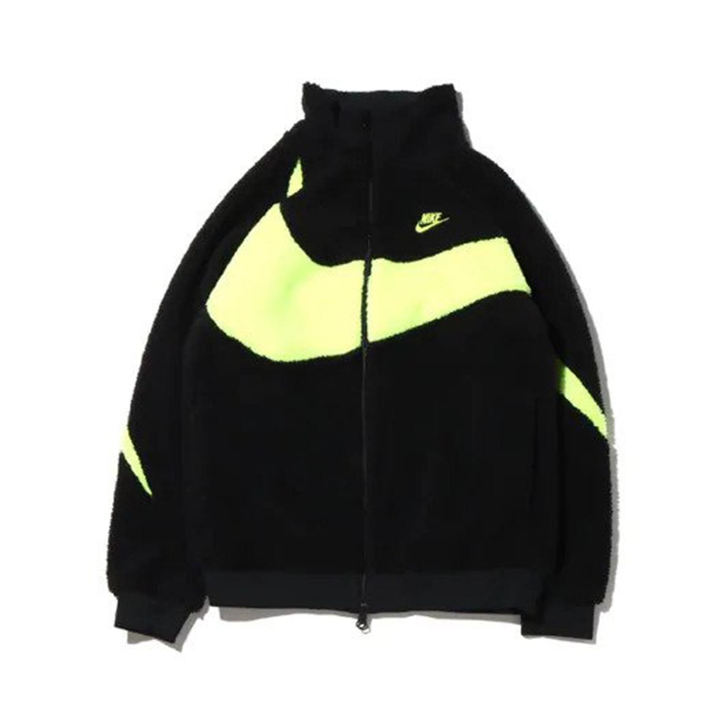 Nike VM Big Swoosh Full Zip Jacket Black Volt