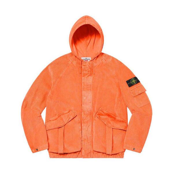 Supreme x Stone Island Corduroy Jacket Orange 20FW