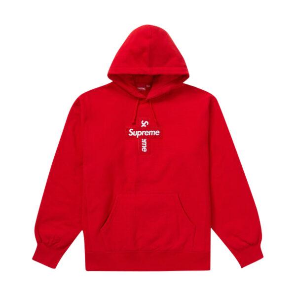Supreme Cross Box Logo Hooded Sweatshirt Red 20FW