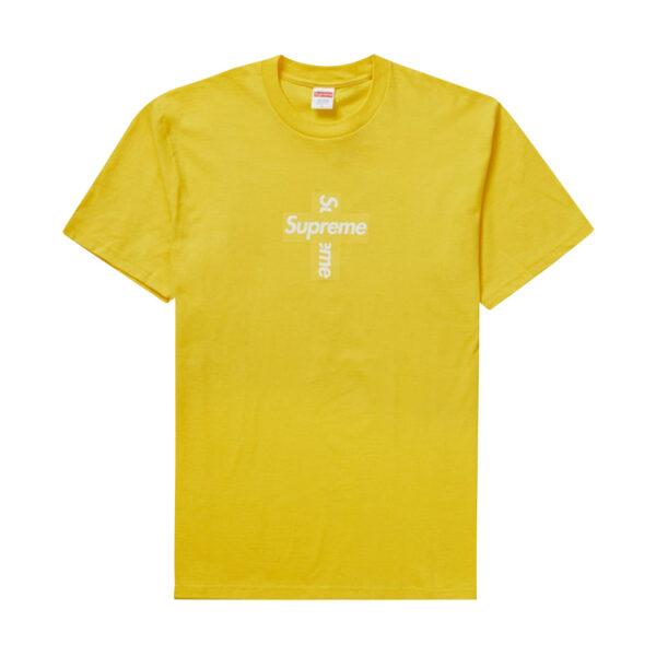 Supreme Cross Box Logo Tee Yellow 20FW
