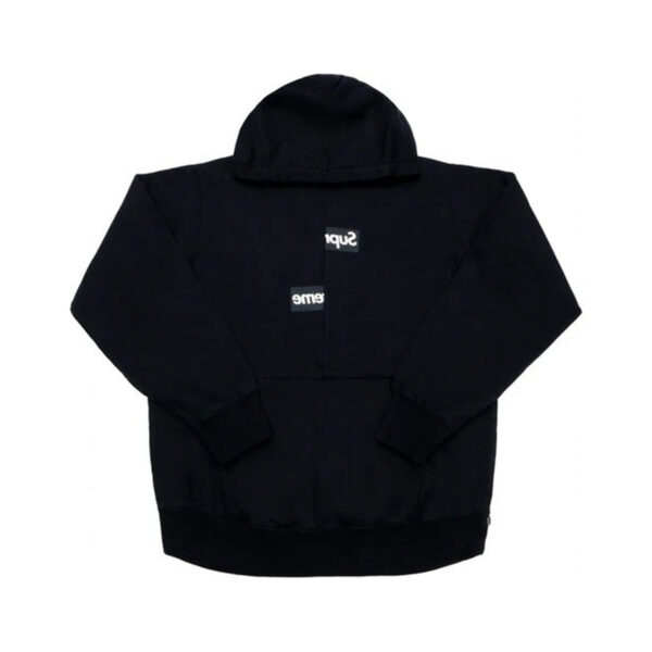 Supreme Comme des Garcons SHIRT Split Box Logo Hooded Sweatshirt Black 18FW